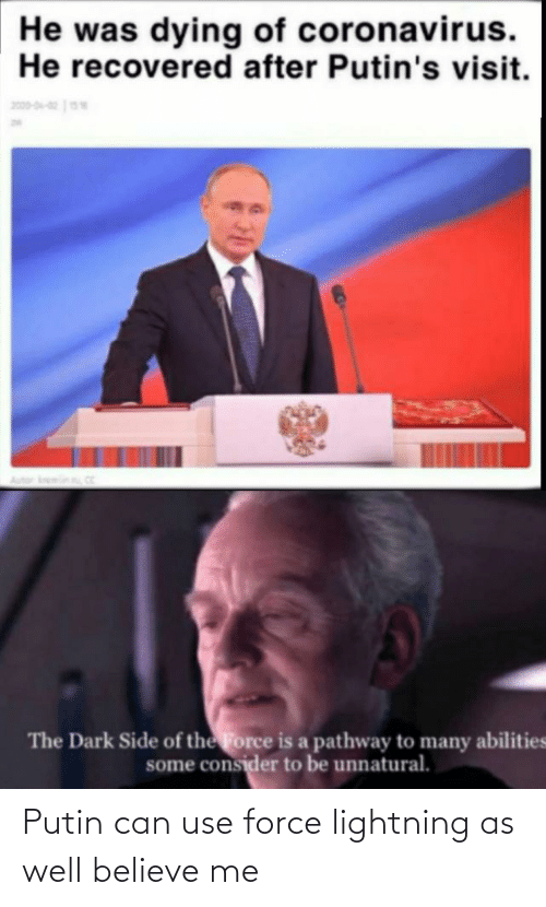 Lightning: Putin can use force lightning as well believe me