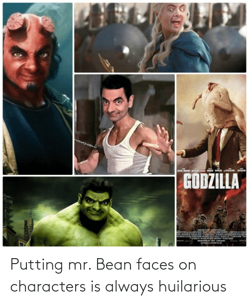 Mr: Putting mr. Bean faces on characters is always huilarious