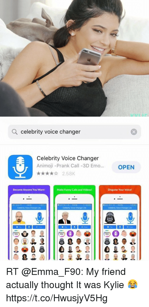 Celebrity voices for phone calls