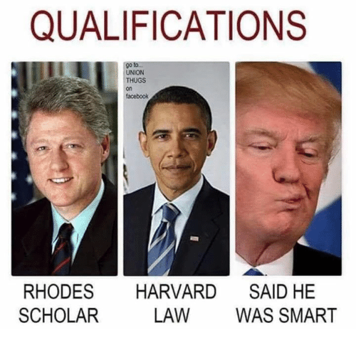 thugs: QUALIFICATIONS  go to.  UNION  THUGS  on  facebook  RHODES HARVARD SAID HE  SCHOLAR  LAW WAS SMART