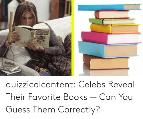 books: quizzicalcontent:    Celebs Reveal Their Favorite Books — Can You Guess Them Correctly?