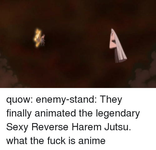 Enemy Stand: quow:  enemy-stand:  They finally animated the legendary Sexy Reverse Harem Jutsu.  what the fuck is anime