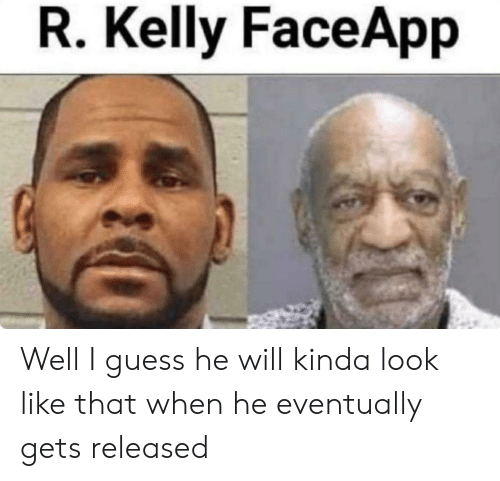 R. Kelly, Guess, and Dank Memes: R. Kelly FaceApp Well I guess he will kinda look like that when he eventually gets released