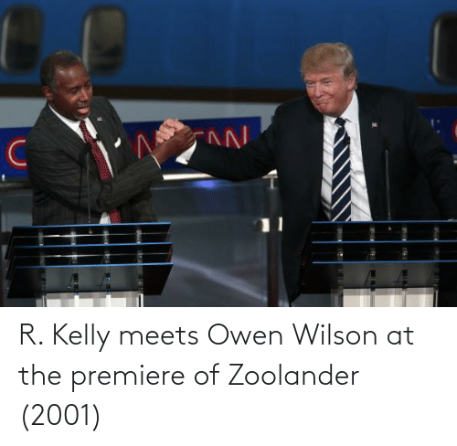 R. Kelly: R. Kelly meets Owen Wilson at the premiere of Zoolander (2001)