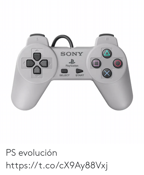 Sony: R  SONY  PlayStation  SELECT  START PS evolución  https://t.co/cX9Ay88Vxj