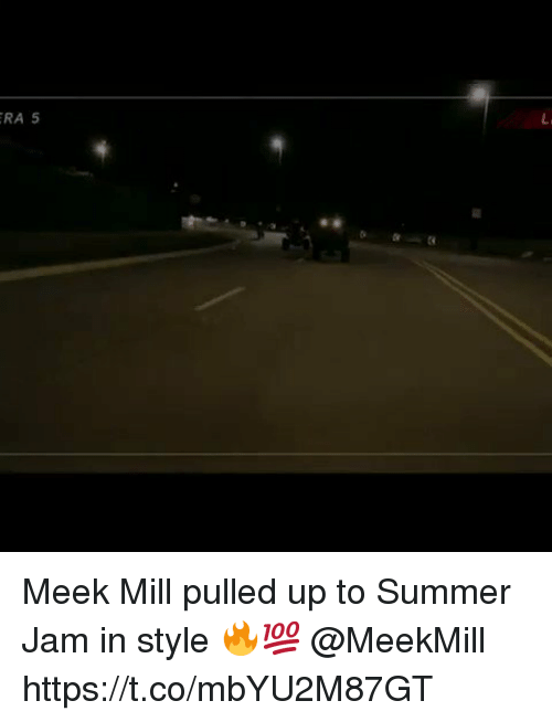 Meek Mill: RA 5 Meek Mill pulled up to Summer Jam in style 🔥💯 @MeekMill https://t.co/mbYU2M87GT