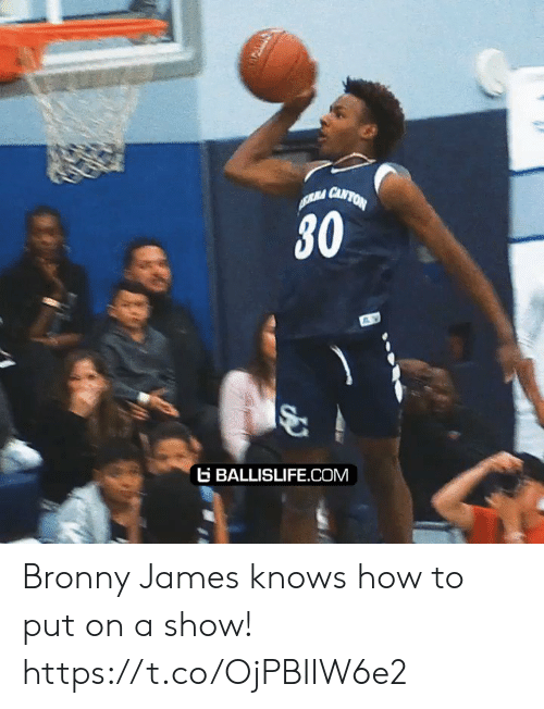 ballislife: RA CANTON  30  BALLISLIFE.COM Bronny James knows how to put on a show! https://t.co/OjPBIIW6e2
