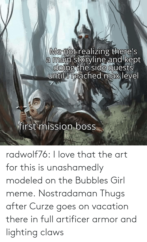 Girl Memes: radwolf76:  I love that the art for this is unashamedly modeled on the Bubbles Girl meme.     Nostradaman Thugs after Curze goes on vacation there in full artificer armor and lighting claws