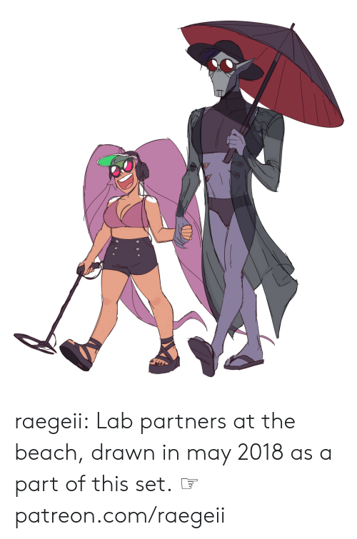 Tumblr, Beach, and Blog: raegeii:  Lab partners at the beach, drawn in may 2018as a part of this set.  ☞ patreon.com/raegeii