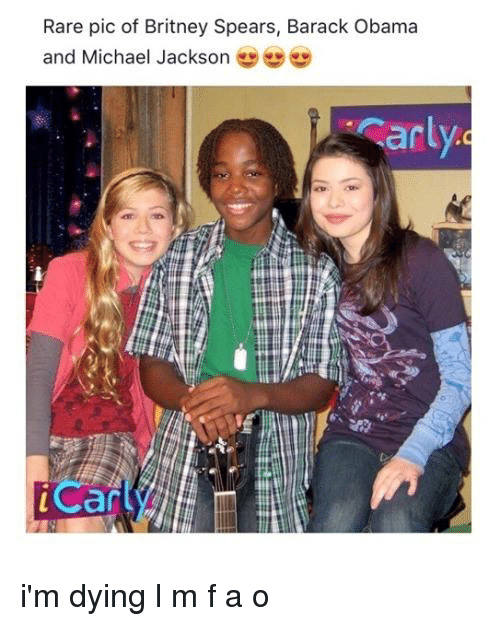 Rareness: Rare pic of Britney Spears, Barack Obama  and Michael Jackson  arl  iCan i'm dying l m f a o