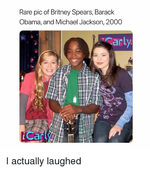 Britney Spears, Michael Jackson, and Obama: Rare pic of Britney Spears, Barack  Obama, and Michael Jackson, 2000  arl  Can I actually laughed
