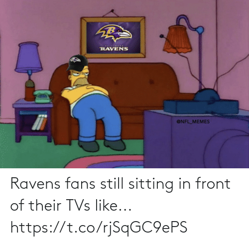 In Front: Ravens fans still sitting in front of their TVs like... https://t.co/rjSqGC9ePS