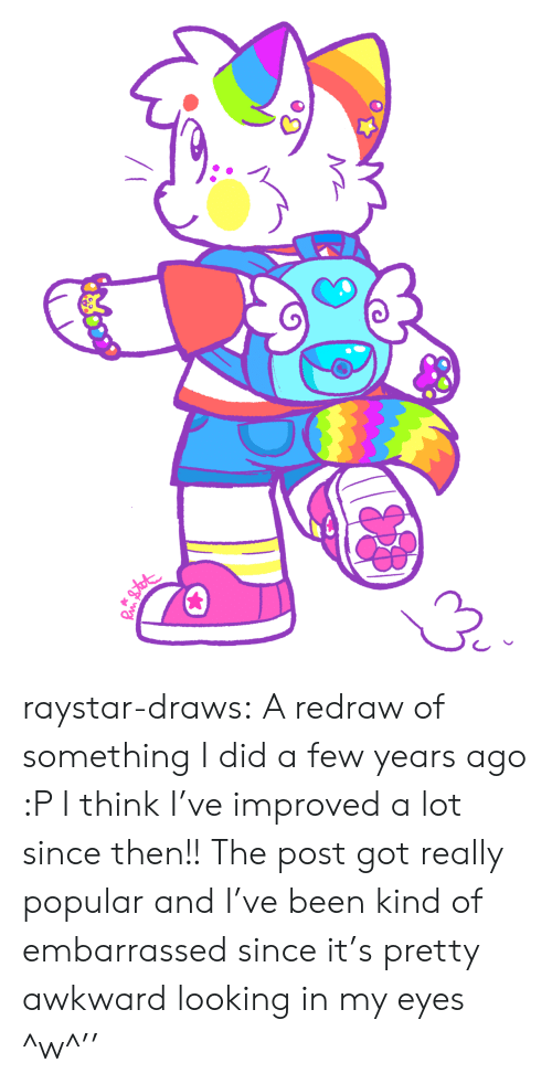 Looking In: raystar-draws: A redraw of something I did a few years ago :P I think I've improved a lot since then!! The post got really popular and I've been kind of embarrassed since it's pretty awkward looking in my eyes ^w^''