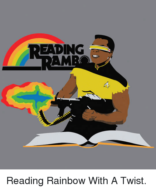 With A Twist: READING <p>Reading Rainbow With A Twist.</p>