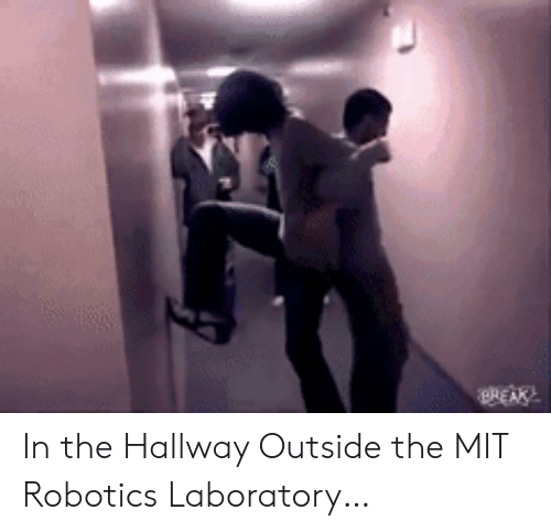 mit: REAK In the Hallway Outside the MIT Robotics Laboratory…