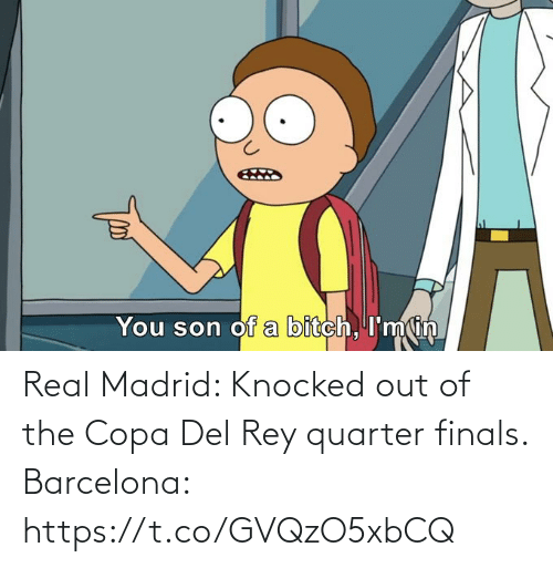 Finals: Real Madrid: Knocked out of the Copa Del Rey quarter finals.  Barcelona: https://t.co/GVQzO5xbCQ
