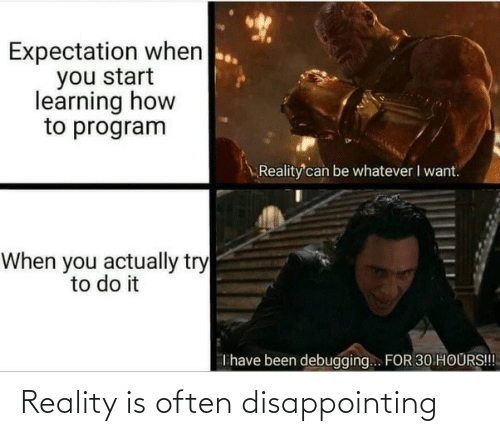disappointing: Reality is often disappointing