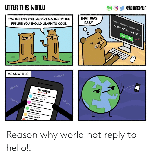 reply: Reason why world not reply to hello!!