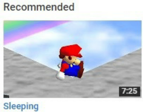 Sleeping and Recommended: Recommended  7:25  Sleeping