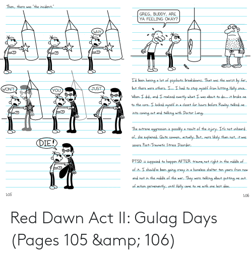 pages: Red Dawn Act II: Gulag Days (Pages 105 & 106)