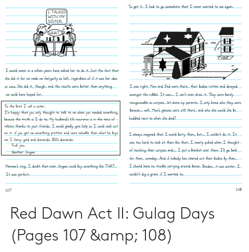 pages: Red Dawn Act II: Gulag Days (Pages 107 & 108)
