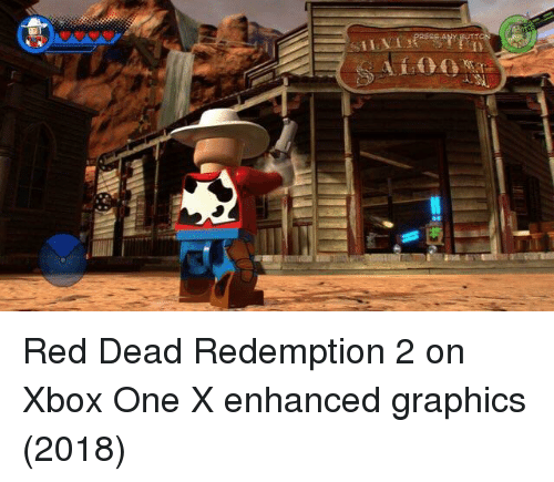 xbox one: Red Dead Redemption 2 on Xbox One X enhanced graphics (2018)