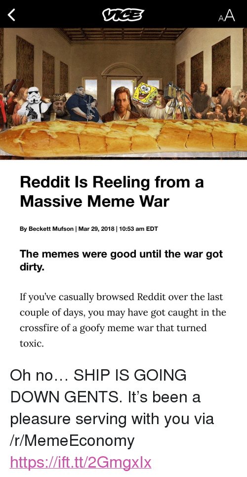 """meme war: Reddit Is Reeling from a  Massive Meme War  By Beckett Mufson 