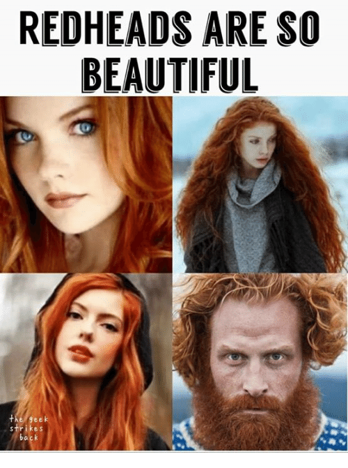 redheads: REDHEADS ARE SO  BEAUTIFUL  the geek
