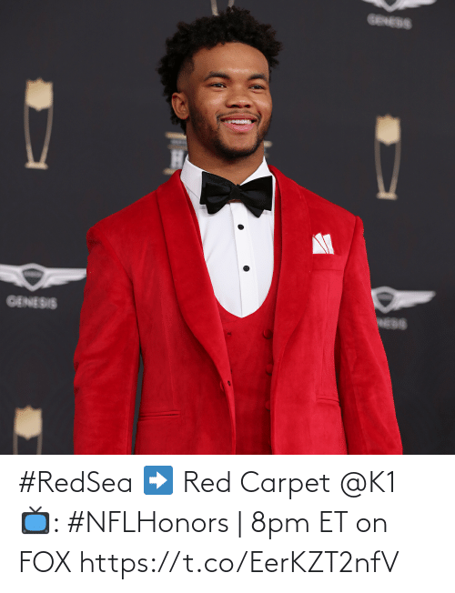 carpet: #RedSea ➡️ Red Carpet   @K1  📺: #NFLHonors | 8pm ET on FOX https://t.co/EerKZT2nfV