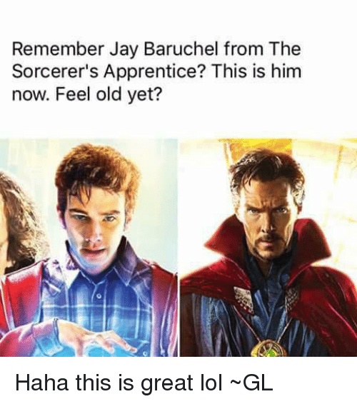 the sorcerers apprentice: Remember Jay Baruchel from The  Sorcerer's Apprentice? This is him  now. Feel old yet? Haha this is great lol ~GL