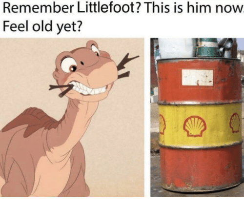 littlefoot: Remember Littlefoot? This is him now  Feel old yet?