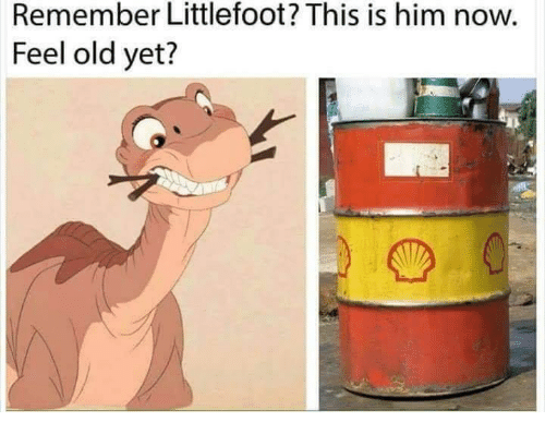littlefoot: Remember Littlefoot? This is him now.  Feel old yet?