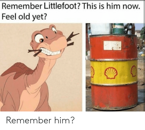littlefoot: Remember Littlefoot? This is him now.  Feel old yet? Remember him?