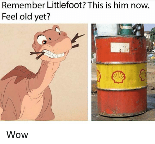 Feel Old Yet: Remember Littlefoot? This is him now.  Feel old yet? Wow