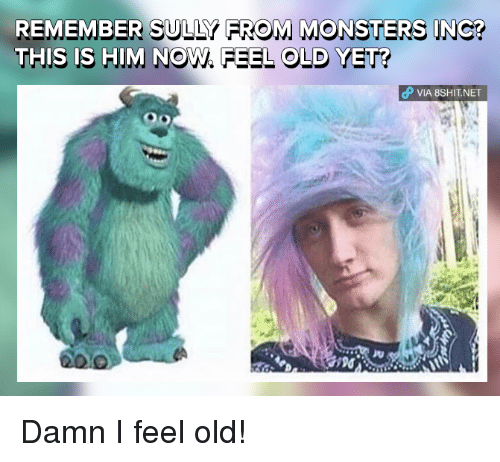 I Feel Old: REMEMBER SULLY FROM MONSTERS INCO  THIS IS HIM Now. FEEL OLD YET?  dP VIA 8SHIT.NET Damn I feel old!