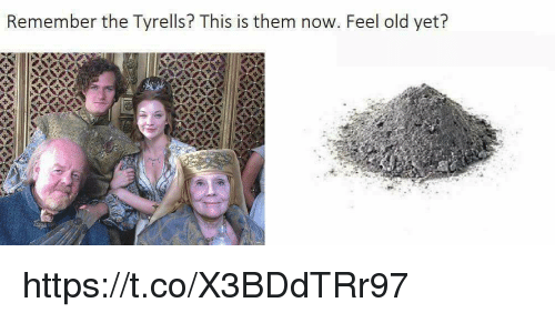 Memes, Old, and 🤖: Remember the Tyrells? This is them now. Feel old yet? https://t.co/X3BDdTRr97