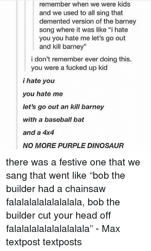 The Barney Song