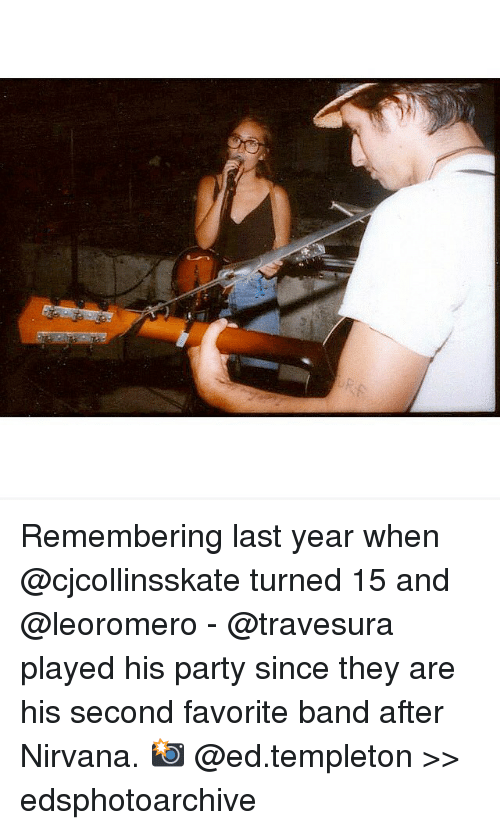 templeton: Remembering last year when @cjcollinsskate turned 15 and @leoromero - @travesura played his party since they are his second favorite band after Nirvana. 📸 @ed.templeton >> edsphotoarchive