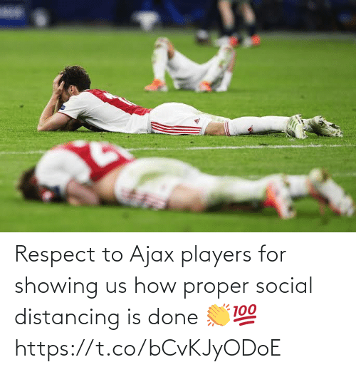 social: Respect to Ajax players for showing us how proper social distancing is done 👏💯 https://t.co/bCvKJyODoE