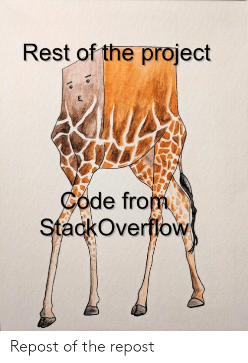 The Project: Rest of the project  Code from  StackOverffow Repost of the repost