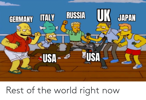 right now: Rest of the world right now