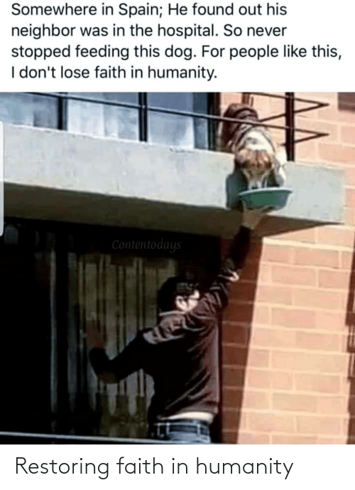 Humanity: Restoring faith in humanity