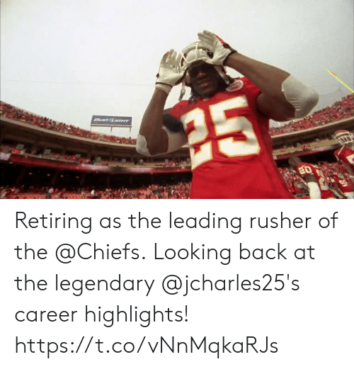 looking back: Retiring as the leading rusher of the @Chiefs.  Looking back at the legendary @jcharles25's career highlights! https://t.co/vNnMqkaRJs
