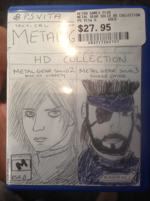 """Games, Snake, and Metal Gear: RETRO GAMES PLUS  METAL GEAR SOLID HD COLLECTION  PS Vita G  USED  TACT  """",  N $27.95  083717260707  HD COLLECTION  METAL GEAR SOLID2 METAL GEAR SOio3  BeRTy  SNAKE EATEC"""