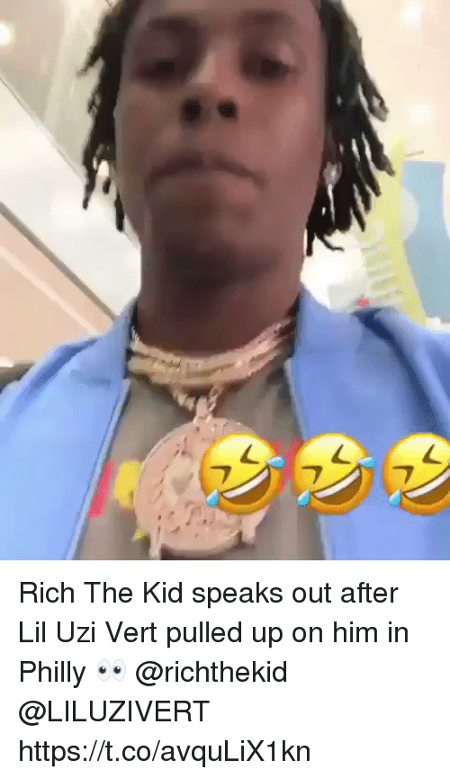 Rich The Kid: Rich The Kid speaks out after Lil Uzi Vert pulled up on him in Philly 👀 @richthekid @LILUZIVERT https://t.co/avquLiX1kn
