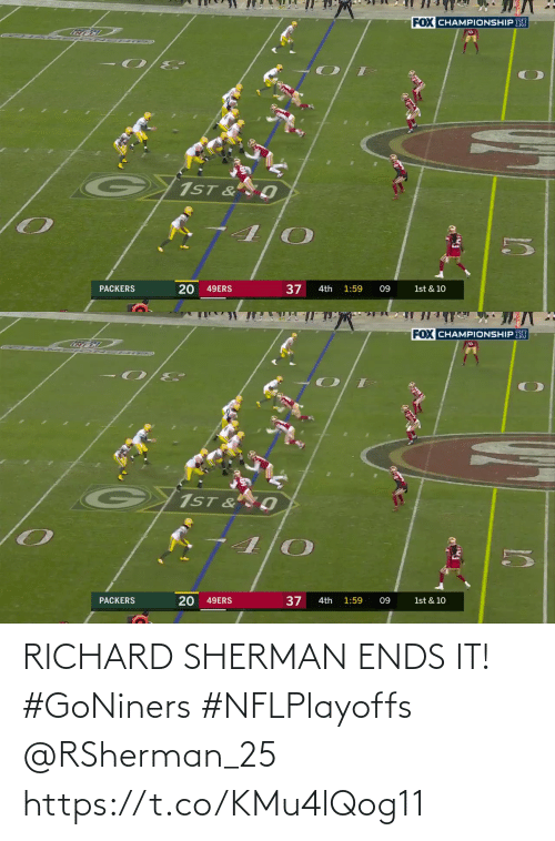 richard: RICHARD SHERMAN ENDS IT! #GoNiners #NFLPlayoffs @RSherman_25 https://t.co/KMu4lQog11