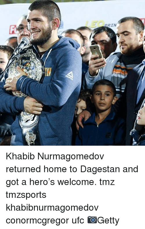 Memes, Ufc, and Home: RIN Khabib Nurmagomedov returned home to Dagestan and got a hero's welcome. tmz tmzsports khabibnurmagomedov conormcgregor ufc 📷Getty