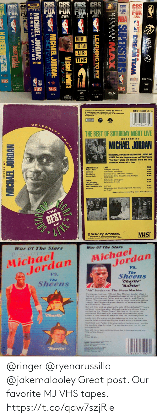 Tapes: @ringer @ryenarussillo @jakemalooley Great post. Our favorite MJ VHS tapes. https://t.co/qdw7szjRle