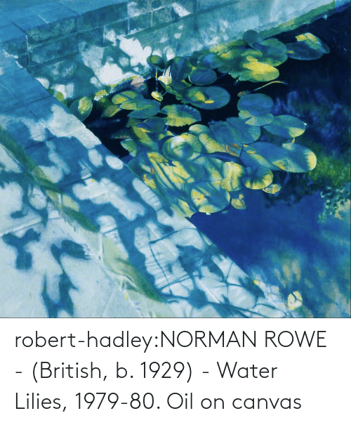 B: robert-hadley:NORMAN ROWE - (British, b. 1929) - Water Lilies, 1979-80. Oil on canvas