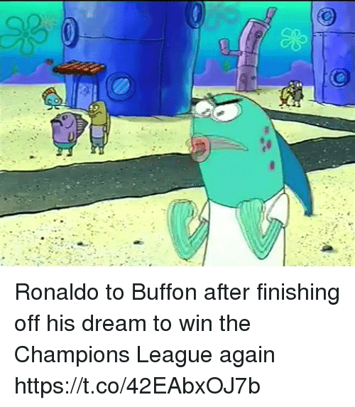 buffon: Ronaldo to Buffon after finishing off his dream to win the Champions League again https://t.co/42EAbxOJ7b